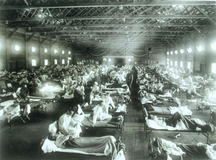 CampFunstonKS-InfluenzaHospital