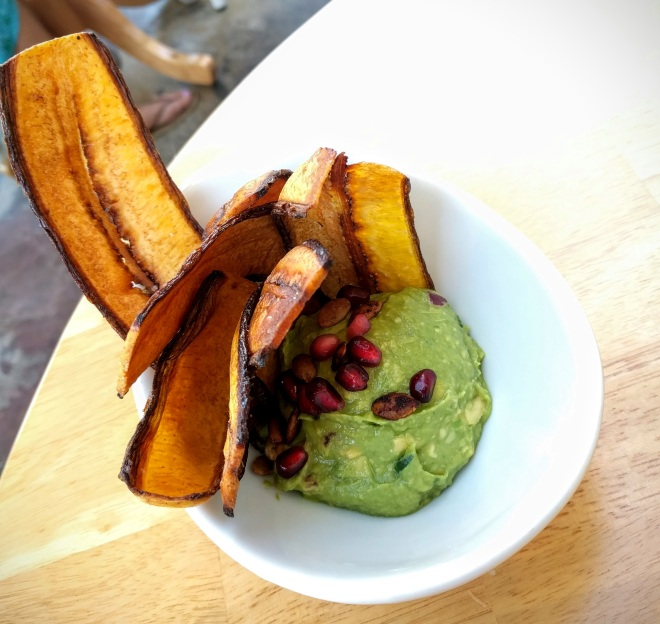 Tocaya Organica - Plantain chips with guacamole