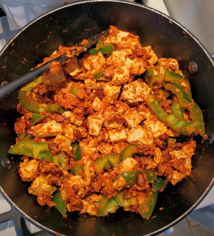tofu scramble with soyrizo