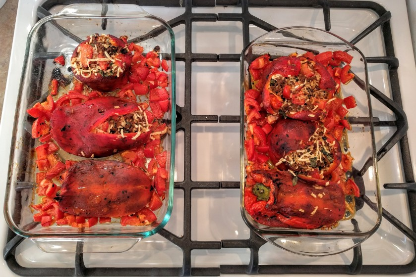 Italian vegan stuffed peppers