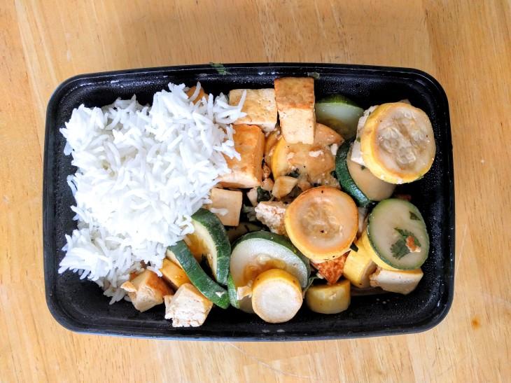 tofu zucchini with rice